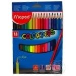 Олівці кольорові Maped Color Peps Classic 18кольорів MP183218