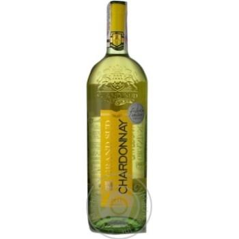 Вино белое Гран Сюд Шардоне натуральное виноградное сухое 12.5% стеклянная бутылка 1000мл Франция