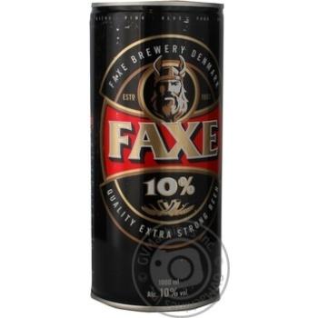 Пиво Фекс 10% солодове залізна банка 10%об. 1000мл Данія