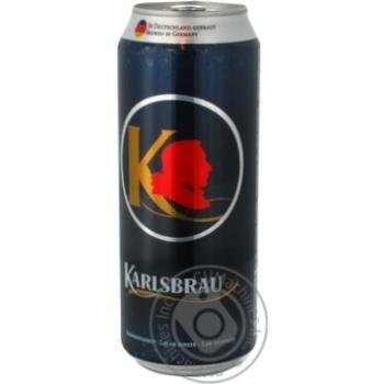 Пиво Карлсбрау светлое железная банка 5%об. 500мл Германия
