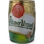 Пиво Пилснер Урквелл светлое 4.4%об. железная бочка 500мл Чехия
