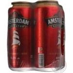Пиво Амстердам Навигатор светлое пастеризованное железная банка 8%об. 4х500мл Украина