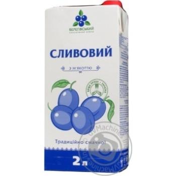 Нектар Береговский сливовый с мякотью стерилизованный гомогенизированный тетрапакет 2000мл Украина