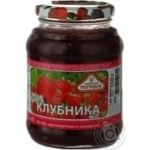 Jam Togrus strawberry with sugar 550g glass jar Russia