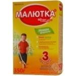 Суміш молочна Нутриція Малютка 3 суха з пребіотиками для дітей з 12 місяців 350г Росія