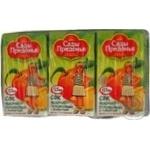 Сок Сады придонья яблоко-персик для детей 375мл тетрапакет