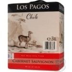 Wine Los pagos red dry 11% 3000ml Chili