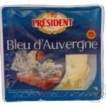 Сыр Президент Бле д'Овернь полутвердый с голубой плесенью 50% 100г Франция