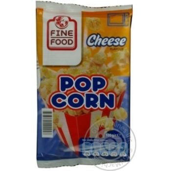 Popcorn Fine food with taste of cheese 100g Czech republic