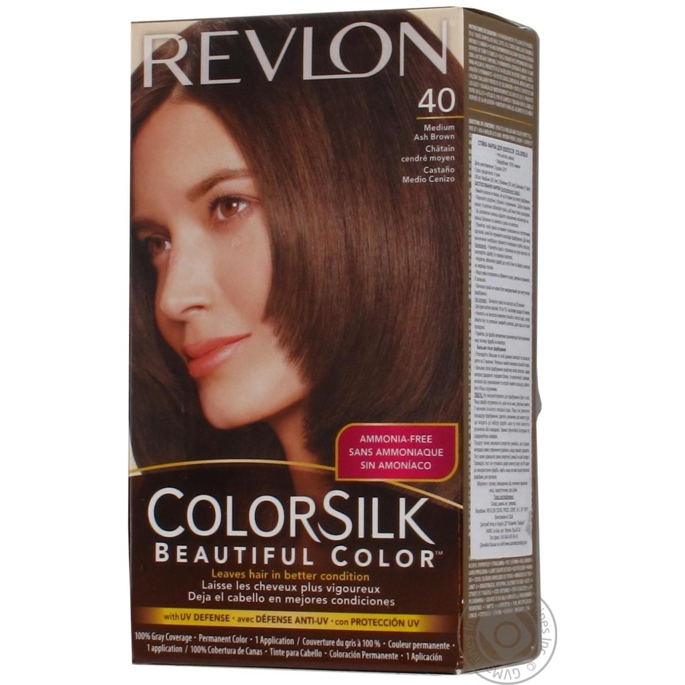 Color Revlon Color Silk Medium Ashy Brown Ammonia Free For Hair