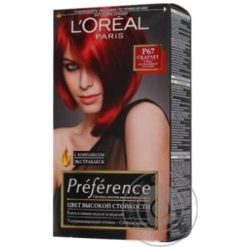 Color Loreal paris intense red for hair