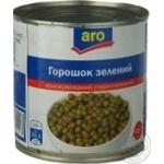 Горошек Аро зеленый консервированный 410г Украина