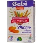 Baby milk porridge Bebi Junior muesli dried apricots with milk for 1+ year babies 200g Slovenia