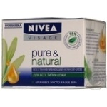 Крем для обличчя нічний Nivea відновлюючий Pure&Natural 50мл