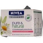 Крем для обличчя для сухої та чутливої шкіри Nivea Pure Natural 50мл