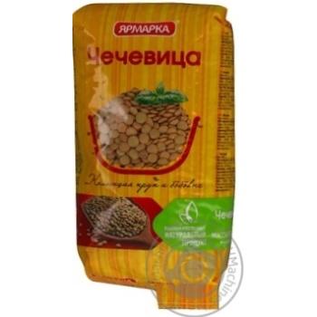 Groats lentils Yarmarka 800g sachet Russia