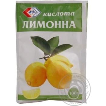 Лимонная кислота АТА 100г - купить, цены на МегаМаркет - фото 1