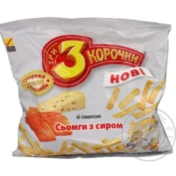 Сухари Три корочки пшеничная семга 90г