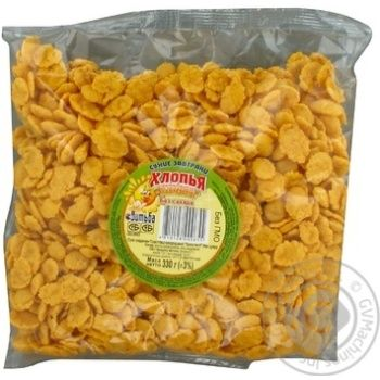 Хлопья кукурузные Витьба Золотистые без сахара 330г