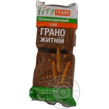 Хлеб Вито Грано Ржаной цельнозерновой нарезка 300г Украина