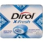 Резинка жевательная Dirol X-Fresh ледяная мята 18г