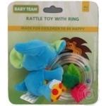 Игрушка-погремушка Baby Team с кольцом Слон - купить, цены на Фуршет - фото 5
