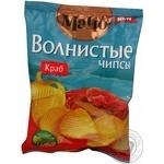 Чипсы Мачо Волнистые картофельные со вкусом краба 70г Украина
