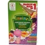 Каша детская Хайнц Лакомая кашка рисовая абрикос чернослив молочная сухая быстрорастворимая с 5 месяцев 200г Россия