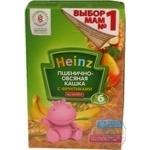 Каша детская Хайнц Пшенично-овсяная кашка с фруктами безмолочная сухая с 6 месяцев 200г Россия