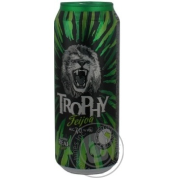 Low-alcohol sparkling feijoa flavor drink Trophy 7%alc. 500ml Russia