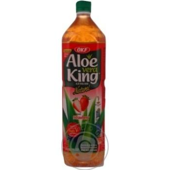 Напиток Алоэ Вера со вкусом клубники негазированный безалкогольный пластиковая бутылка 1500мл Корея