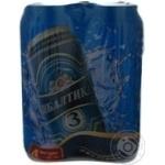 Пиво Балтика Класичне № 3 світле пастеризоване залізна банка 4.8%об. 4х500мл Україна