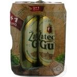 Pasteurized lager Zatecky Gus can 4.6%alc 4x500ml Ukraine