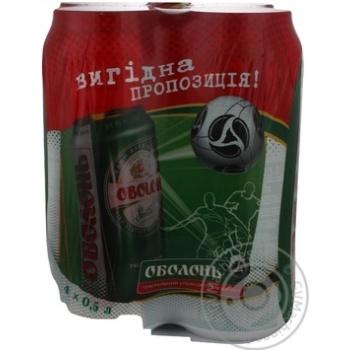 Пиво Оболонь светлое банка 0,5л*4шт