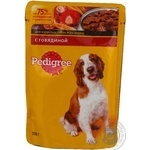 Food Pedigree with beef for dogs 100g soft packing Russia