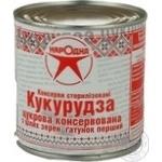 Vegetables corn Narodna canned 430g can Ukraine
