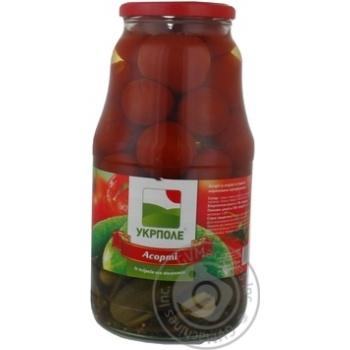 Овощи помидор Укрполе консервированная 1850г