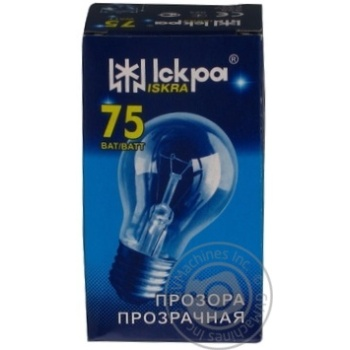 Лампа електрична прозора Іскра А55-230в 75вт Е27