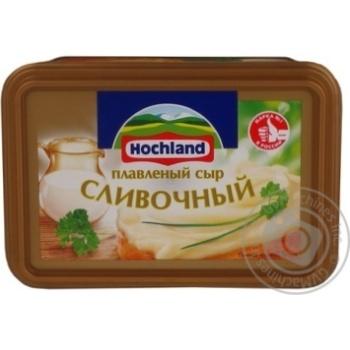 Сир Хохланд Вершковий плавлений 55% 400г Росія