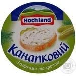 Продукт сырный Хохланд Бутербродный плавленый с огурцами и укропом 38% 150г Польша