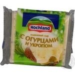 Cheese Hochland dill processed 40% 150g vacuum packing Russia