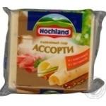 Сыр Хохланд Ассорти плавленый сливочный + с ветчиной 45% 150г Россия