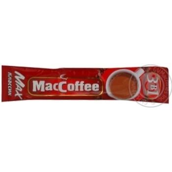 Напиток кофейный МакКофе 3в1 Макс Класик растворимый с сахаром и подсластителем в стиках 16г Сингапур