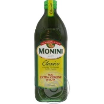 Масло Монини маслиновая экстра вирджин 1000мл стеклянная бутылка Италия