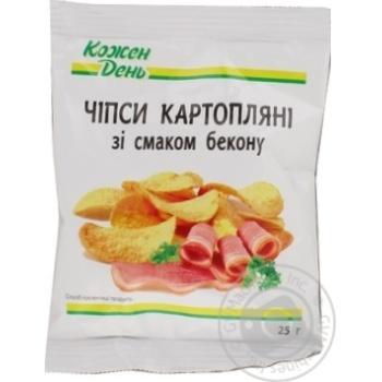 Чіпси Кожен день картопляні зі смаком бекону 25г