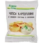 Чипсы Каждый день картофельные со вкусом сметаны с зельнью 25г