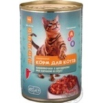 Ашан/Консерва для котів 415 г/з цесаркою та качкою