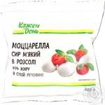 Моцарела Каждый день сыр мягкий в рассоле 45% 125г