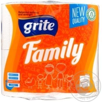Папір туалетний Grite Family 4рул.