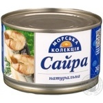 Fish saury Morska kollektsia with addition of butter 245g can China